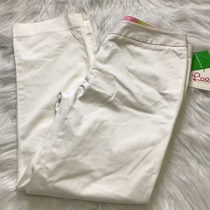 Lilly Pulitzer White Tippi crop Solid pants